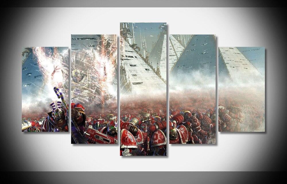 8385 Horus Heresy futuristic artwork science fictiondigital art The Thousand Sons Warhammer 40k poster Framed Gallery wrap art