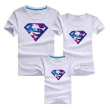 Mother Kids 2016 Supermen T Shirt Men Sport Brand Clothing Sets Skate Harajuku T-shirts Polera Beach Tshirt Family Look Daughter