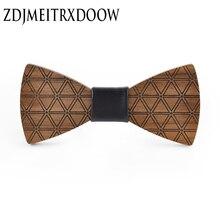 2017Brand new design triangle printed wooden bow tie fashion originality original suit shirt wedding
