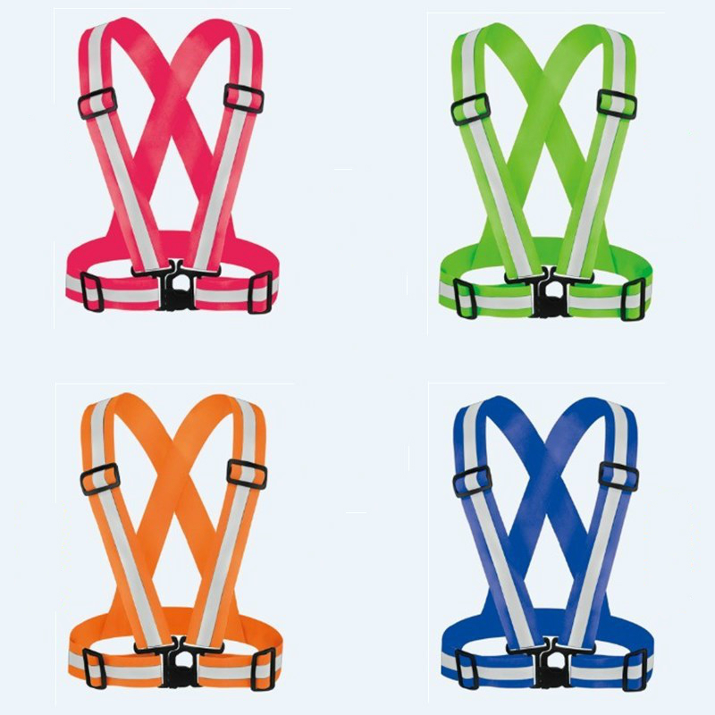 FGHGF Reflective Safety Vest Belt for Kid Child Children Pupil Security Reflective Waistcoat Belt Outdoor Running Jogging Cyclin high quality safe reflective vest belt for women girls night running jogging biking