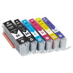 Einkshop PGI-580 CLI-581 atrament kartridż do canona PGI580 CLI581 PIXMA TR7550 TR8550 TS6150 TS8150 TS9150 TS9155 tusz do drukarki