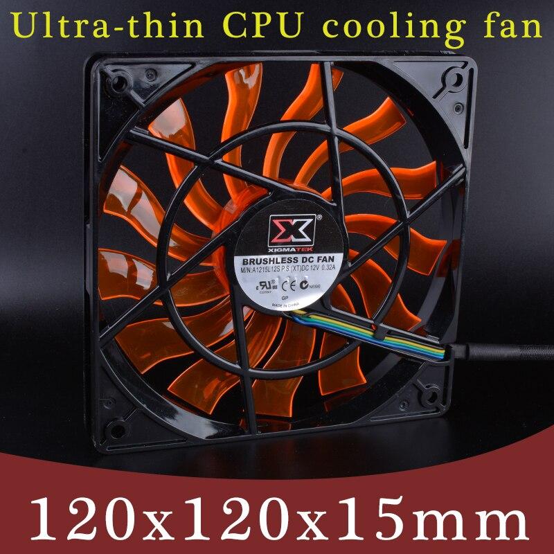 XIGMATEK 120mm ventilateur 120x120x15mm 12 V 0.32A ordinateur CPU quatre fils PWM ultra-mince ventilateur de refroidissement. l'épaisseur est seulement 15mm