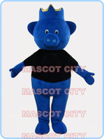 mascot blue king pig mascot costume adult size cartoon pig theme advertising costumes carnival fancy dress props 2606