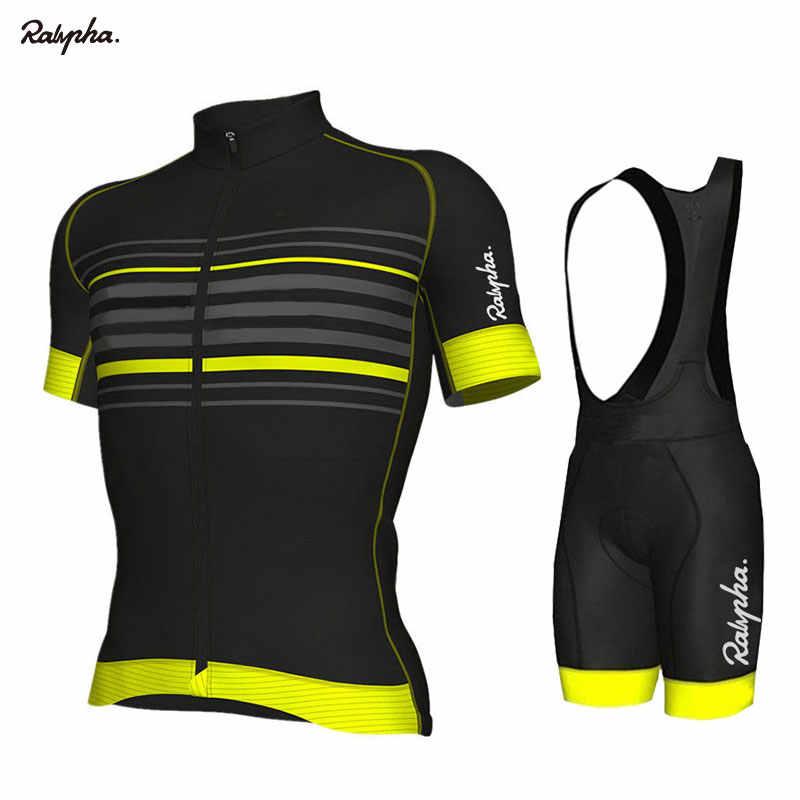 Bersepeda Jersey Set 2019 PRO TIM Aleing Bersepeda Pakaian MTB Bersepeda Bib Celana Pendek Pria Sepeda Jersey Set Ropa Ciclismo Triathlon kit