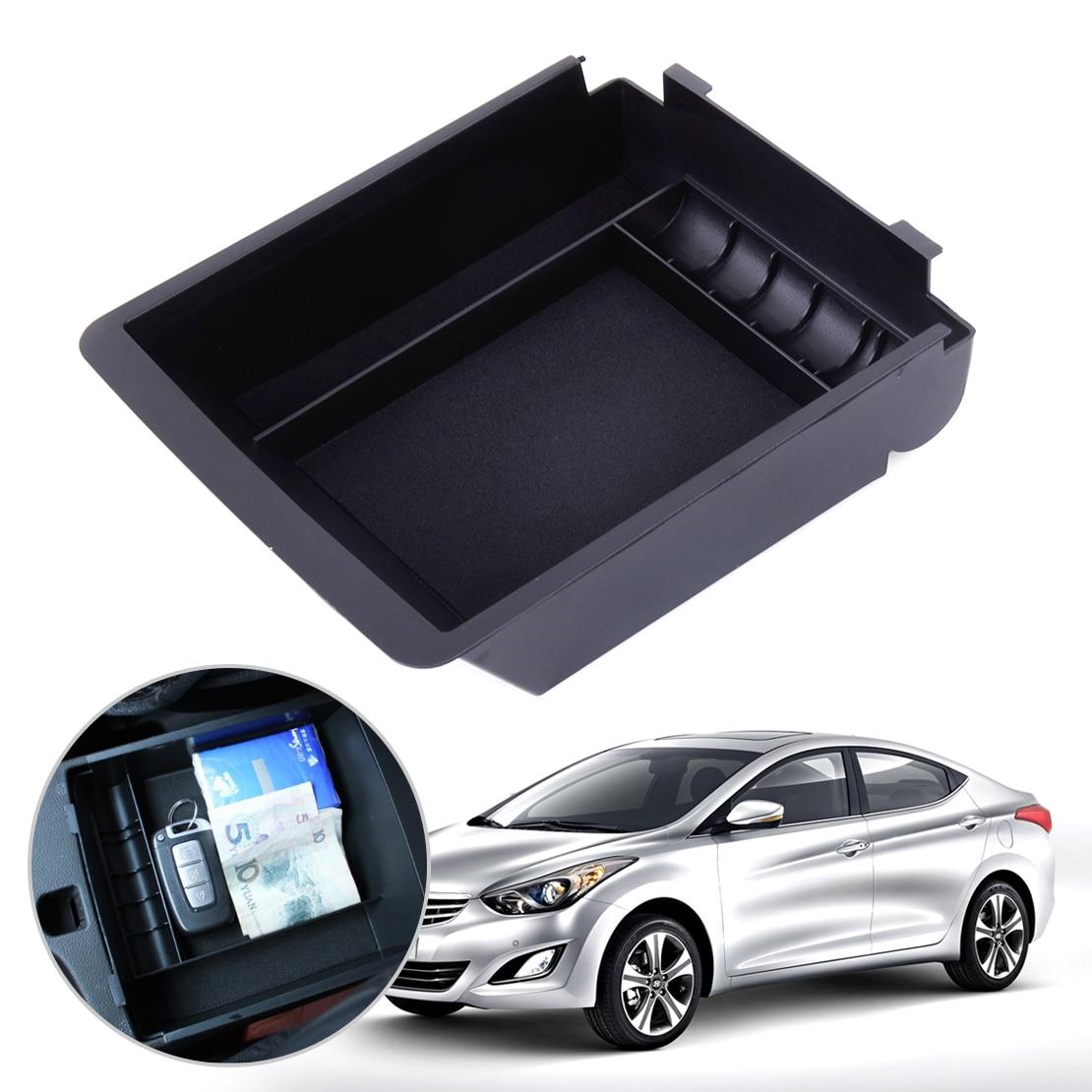 DWCX Voiture ABS En Plastique Center Console Accoudoir Boîte De Rangement Bac de Palettes pour Hyundai Elantra (MD) 2011 2012 2013 2014 2015
