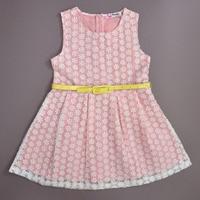 Saika Dresses Girl Princess Dress Yellow Pink Dresses Printed Shawang Designed Sundresses Hit The Color Belt Dedicated For Girls