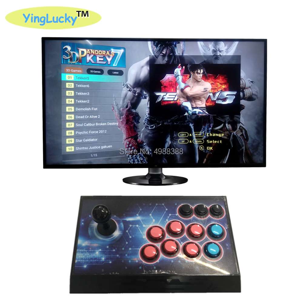 MAME Arcade Console with Joystick with 6 buttons in an acrylic case USB Jamma