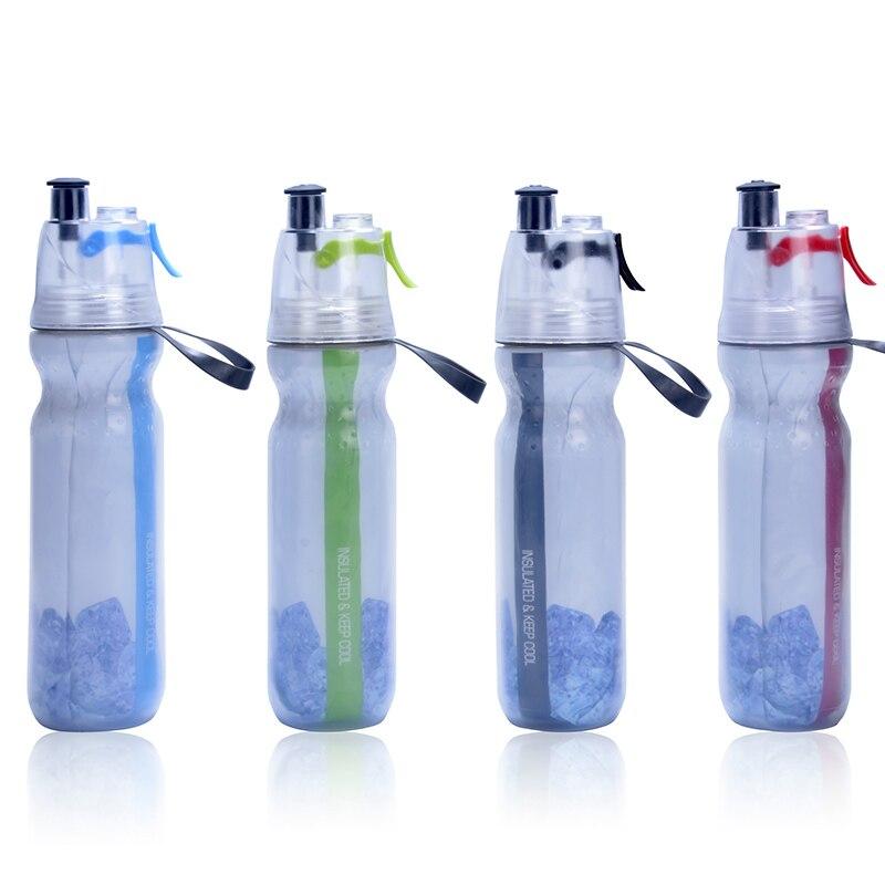 Halten Kühlen Isolierten Fahrrad Wasser Flasche Spray Nebel Squeeze Flasche 17 unze (500 ml). BPA FREI