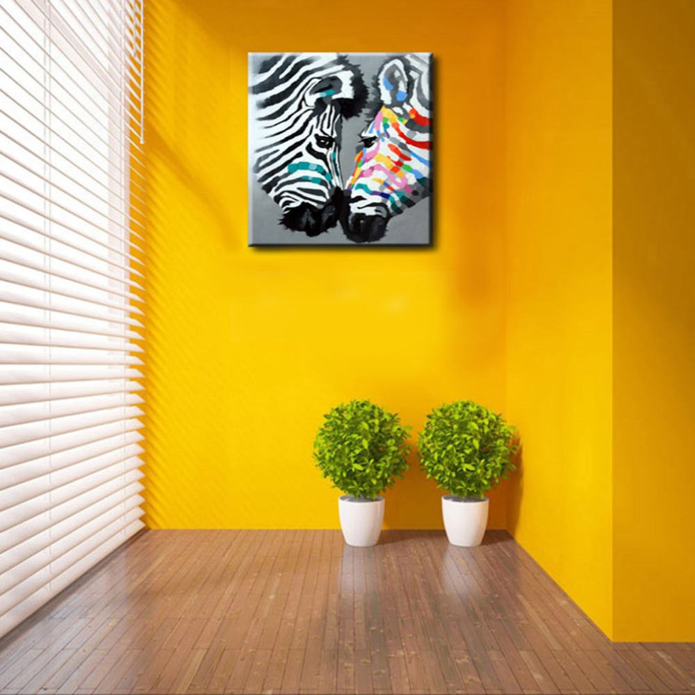Frameless Abstract Animal Print Oil Painting Hand Painted Art Wall ...