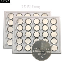 GQYM 50pcs 3V CR2032 Lithium Button Cell Battery BR2032 DL2032 ECR2032 Coin Batteries