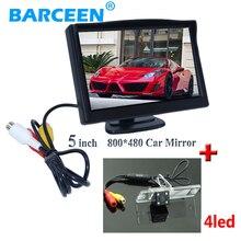 5 «hd lcd автомобиля парковка монитор 800*480 с 4 led автомобиль обращая камера для Mitsubishi L200 Pajero Зингер V3 V93 V5 V6 V8 V97