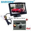 """5 """"hd lcd monitor de estacionamento 800*480 com 4 led car inverter câmera para mitsubishi pajero v93 v3 v5 v6 v8 zinger l200 V97"""