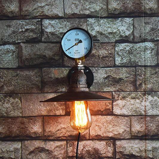 Industriellen Stil Wand Lampen Handgemachte Schmiedeeisen Schlafzimmer Restaurant Esszimmer Küche Leuchten Korridor Wand Beleuchtung Cafe