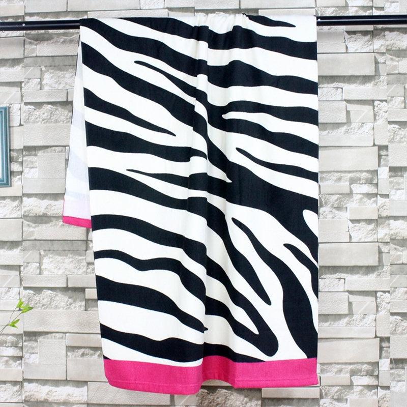 70 140cm Microfiber Bath Beach Towel Zebra Leopard pattern Drying Washcloth Swimwear Shower For Gift Drying Toalla Bathroom in Bath Towels from Home Garden