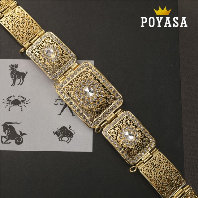 free shippping Moroccan Shining Square Caftan wedding gold and silver Metal belt for women