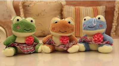 2 design Free Shipping Hot sale fashion 18CM New CuteCartoon frog Plush Toys with suction cups, wholesale
