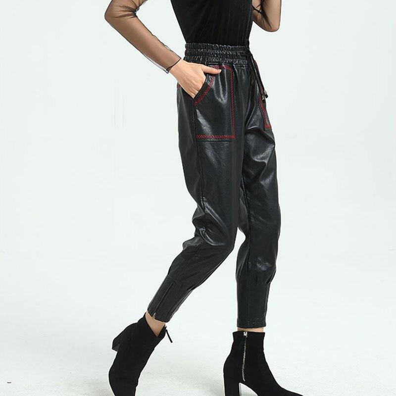 De Mujer Cuero Cintura Negro Terciopelo Señoras Las Harem Invierno Mujeres Sueltos Calidad Streetwear Alta Calientes Pantalones La Pu 5txqaTw7x
