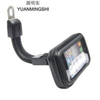 Motorcycle Phone Holder Mount Support GPS Navigation Bracket Smartphone Holder