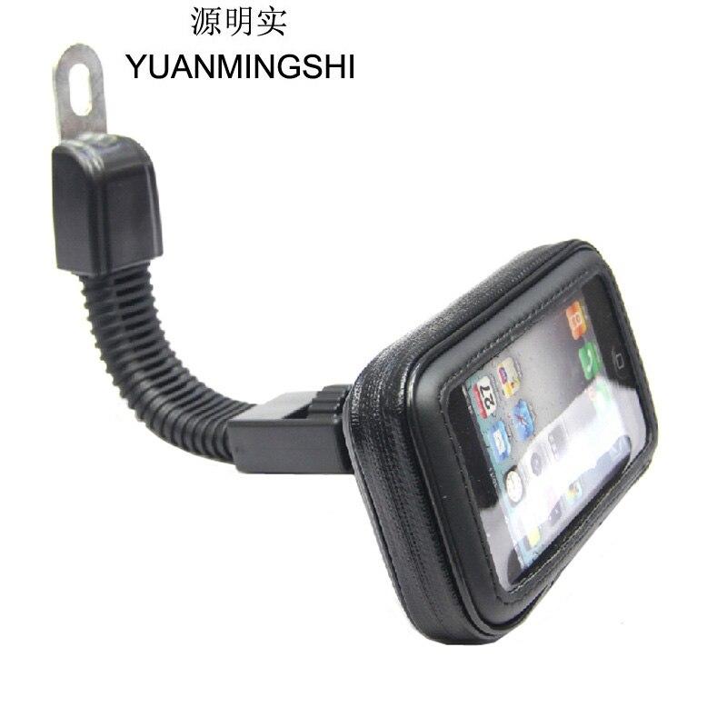 YUANMINGSHI Vélo Sac Étanche Avec Moto Téléphone Mont Support GPS Navigation Support Smartphone Titulaire