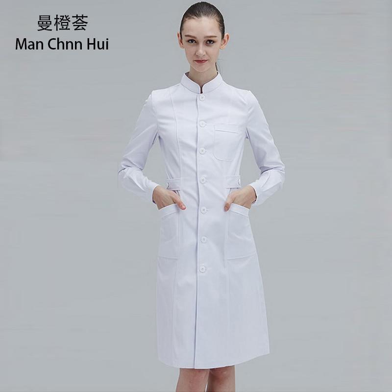 Ladies Medical Robe Medical Lab Coat Hospital Doctor Slim Multicolour Nurse Uniform Medical Gown Overalls