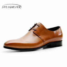 Genuine cow leather brogue Wedding shoes mens casual flats shoes vintage handmade oxford shoes for men black red brown spring