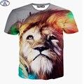Mr.1991 nuevos adolescentes camiseta para chicos o chicas estilo hip-hop de la calle t shirt 3D lion impreso verano niños grandes A25