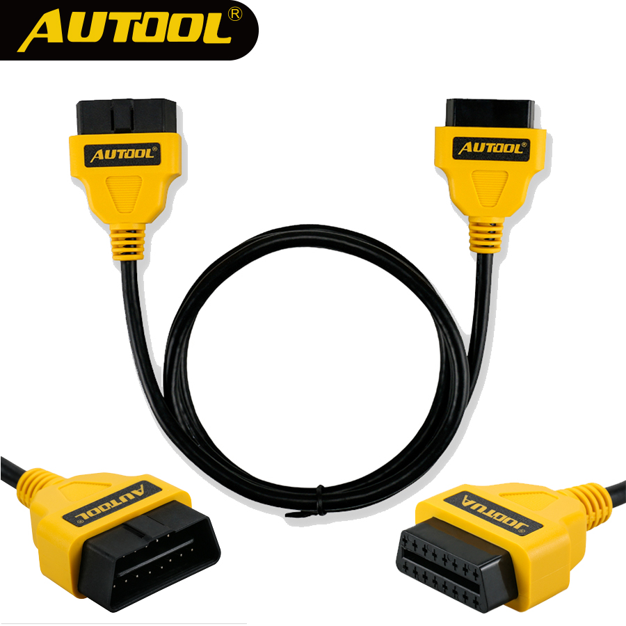AUTOOL OBD2 16Pin Extension Cable 1.5m Car OBD Connect Extend Adapter Wire ELM327 OBD II OBD2 Extension Connector Cord
