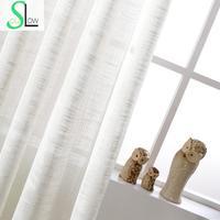 Белая хлопковая текстура в американском стиле кантри штора из декоративной ткани Французский Тюль занавески s для жизни комнатные занавеск...