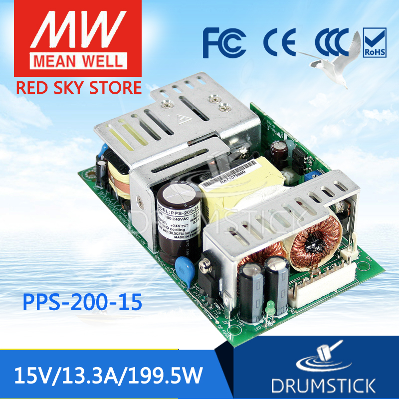 Advantages MEAN WELL PPS-200-15 15V 13.3A meanwell PPS-200 15V 199.5W Single Output with PFC Function tuffstuff pps 200