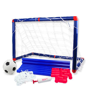 Large Football Soccer Goal Toy Set for Children Kids Outdoor Game Development of Boys Interesting Indoor Sports Tools with Pump