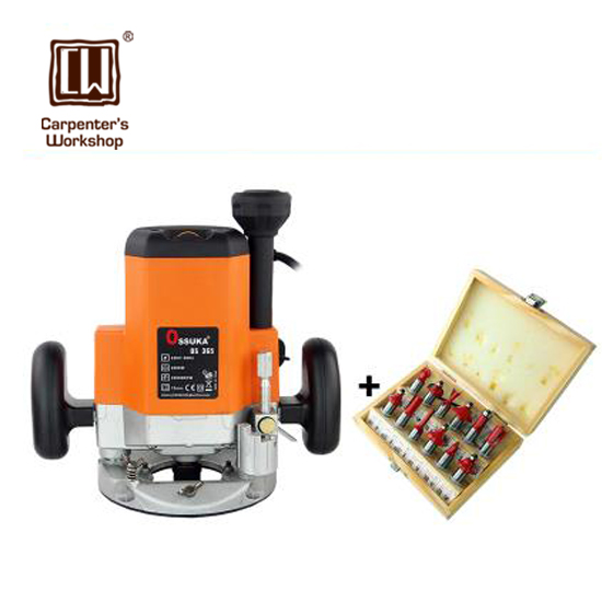 2200w Woodworking Engraving Machine with 12 Pcs Popular Router Bits