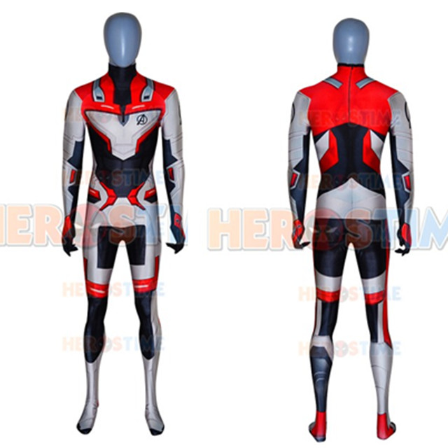 2019 New Avengers Endgame Quantum Realm Cosplay Costume 3D Printed Superhero Zentai Bodysuit Suit Jumpsuits Can custom made