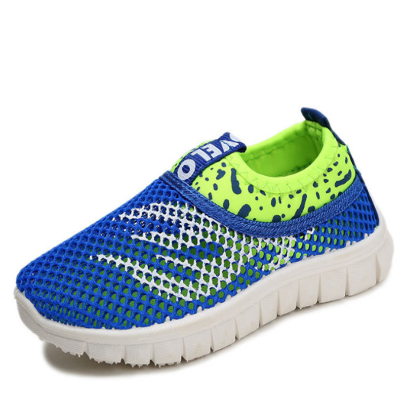Fashion Kids Shoes For Boys Girls Children Sport Sneakers Boys Mesh Breathable Shoes Slip-on Girls School Shoes 21-38