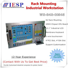 6U ラックマウント産業用ワークステーション、 E5300 CPU 、 2 ギガバイトの RAM 、 500 ギガバイトの HDD 、 4xPCI 、 4xISA 、ラックマウント産業用コンピュータ、 OEM/ODM