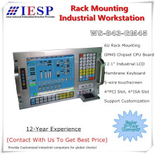 6U Rack mount industrial workstation, E5300 CPU, 2GB RAM, 500GB HDD, 4xPCI,4xISA, rack mount industrial computer, OEM/ODM