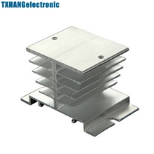 цена на Aluminum Heat Sink for Solid State Relay SSR Small Type Heat Dissipation 10A-40A