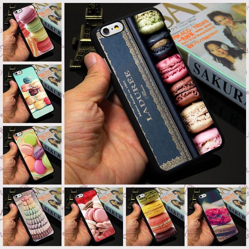 Laduree Paris Macarons Case custom hard plastic mobile phone bag for Apple iPhone 7 4 4s 5 5s 5c 6 6s plus case cover shell