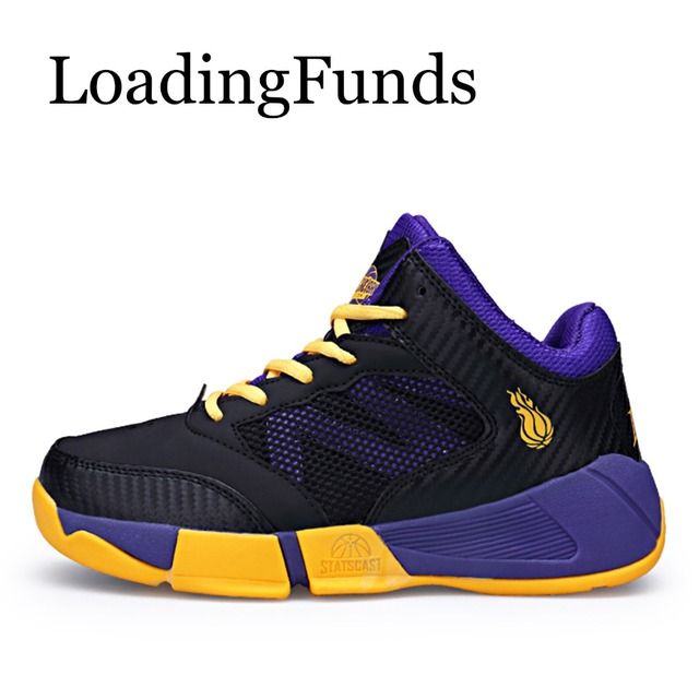 21f8d59586a2 LoadingFunds 2018 New Boy Basketball Shoes Kid Sneakers Sport Shoes  Children Shoes Sport Boot Running Jogging