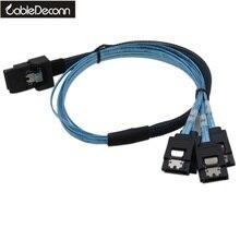 50Cm Mini Sas SFF 8087 4i 36P Sff 8087 Naar 7P Sata * 4 Met Klink Cable