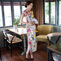 Chinese Traditional Dress Long Silk Qipao Dresses Oriental Cheongsam Wedding Robe Chinoise Evening Gown  Women Modern Qi Pao