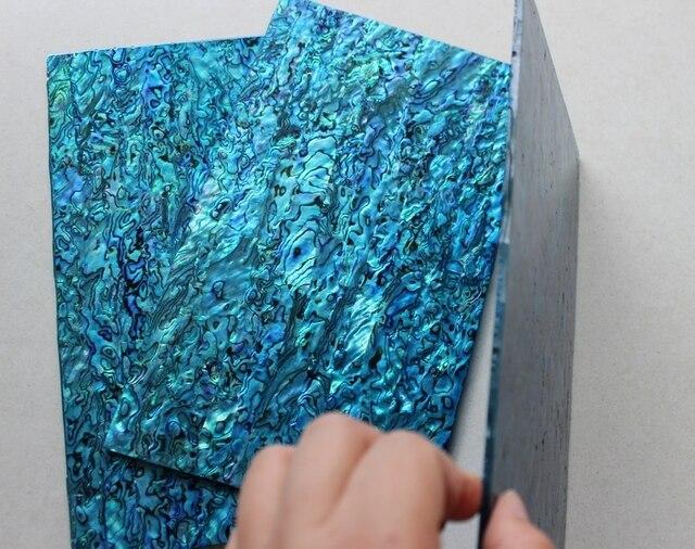 140*240mm 1.5mm Thick Blue Abalone Shell Paua Shell Laminate Sheets Shell Paper  Furniture