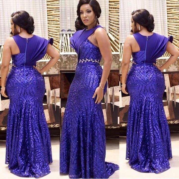 New Designer Purple Sequined Evening Dresses Long 2017