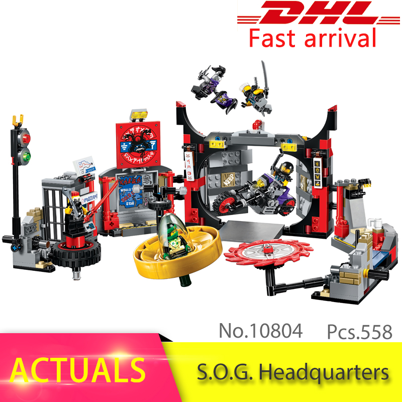 10804 558Pcs Ninjiago The S.O.G. Headquarters Building Blocks set Bricks Educational DIY Toys For Children Boys Gifts 70640
