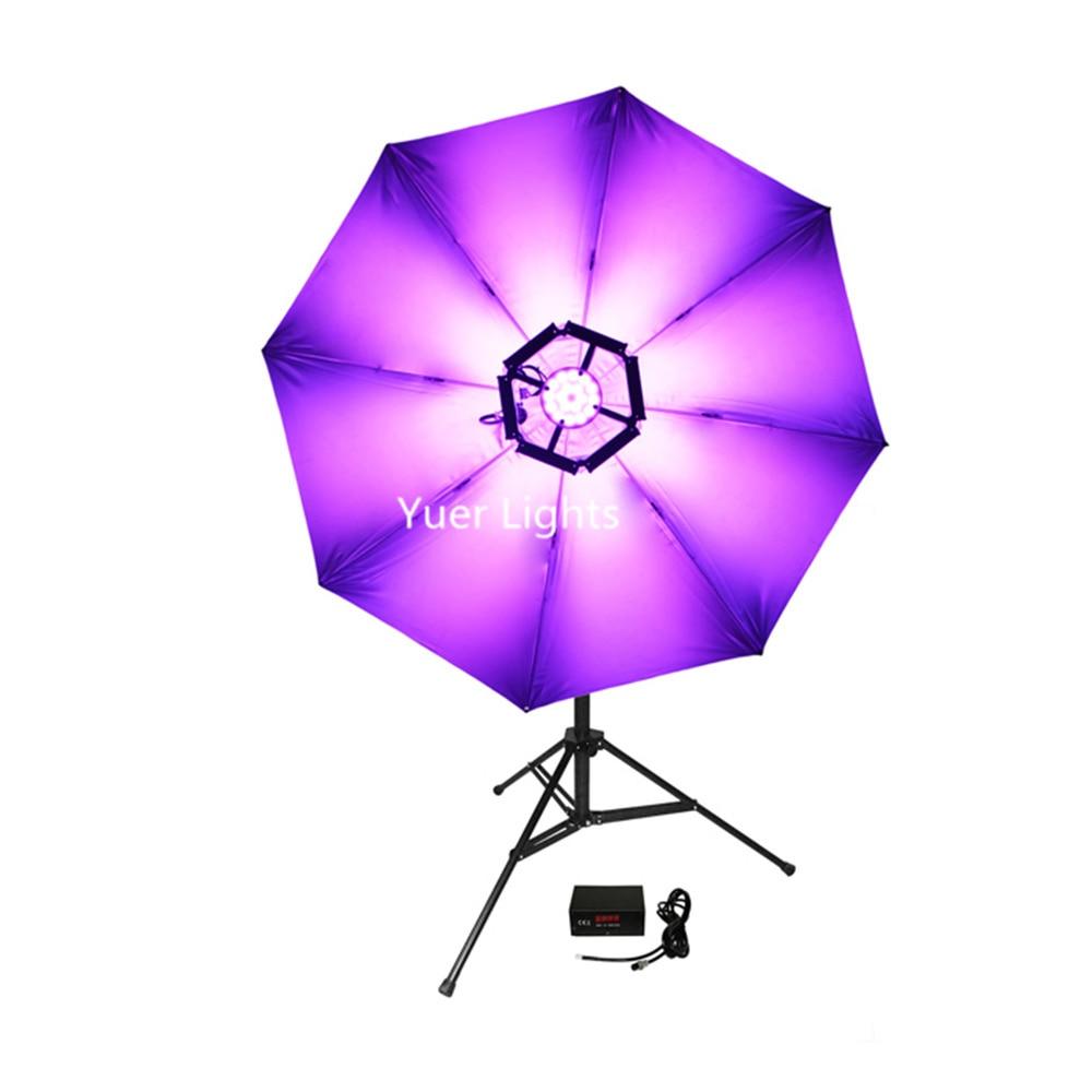 LED 114 pièces 0.2 W DMX512 lumière magique haute luminosité rvb 3in1 lumières DJ Disco club stade lumière effet parapluie couleurs lampe - 2