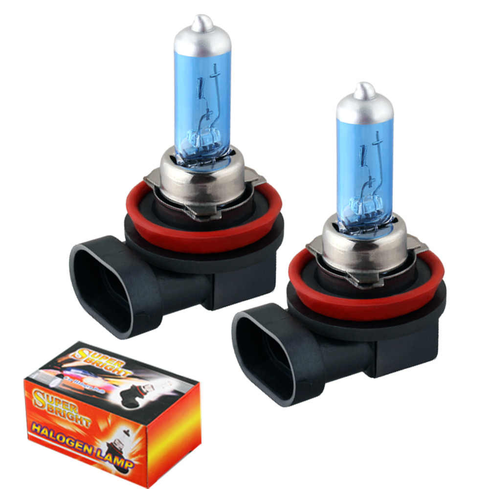 2pcs H8 Super Bright White Fog Lights Halogen Bulbs High Power 35W Car Headlight Lamp 12V car styling car light source parking