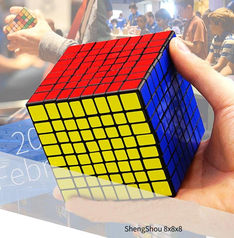 Nouveau Puzzle Cube 8x8x8 Cube magique concours professionnel 8x8x8 vitesse Cube Cubo Magico Twisty jouet éducatif pour enfants