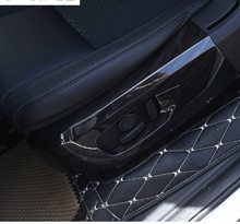 For Land Rover Discovery Sport ABS Black Ash Wood Grain Seat Side Frame Frame Cover Trim Sticker Accessories 2015-2017 black dark ash wood grain abs chrome trims interior cover trim frame decoration car styling for land rover discovery sport 15 17