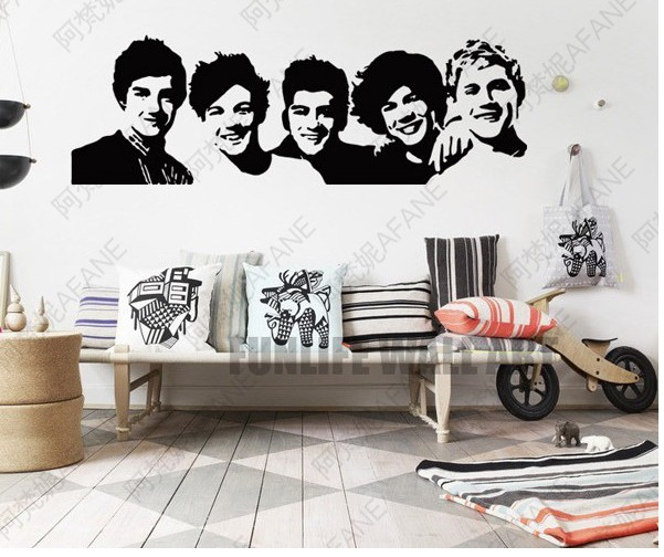 One Direction Wall Sticker 1D Poster Girls Bedroom Home Decoration Pictures  Removable Wall Art Wallpaper Vinyl Decals In Wall Stickers From Home U0026  Garden On ... Part 50