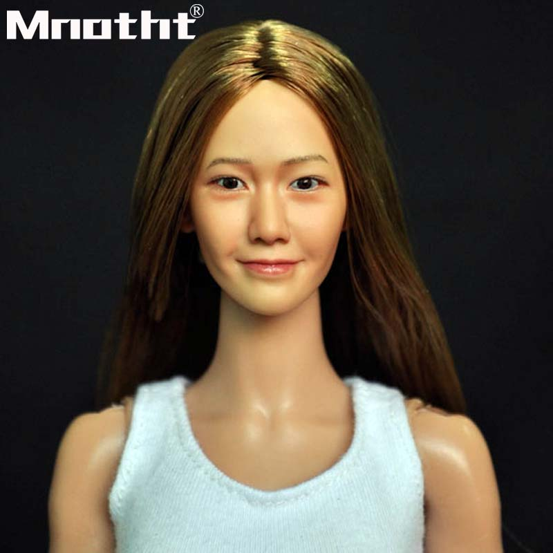 1 6 KUMIK Head Sculpt Female Figure Head Model Lifelike Girl 12 Action Figure Accessory Collection