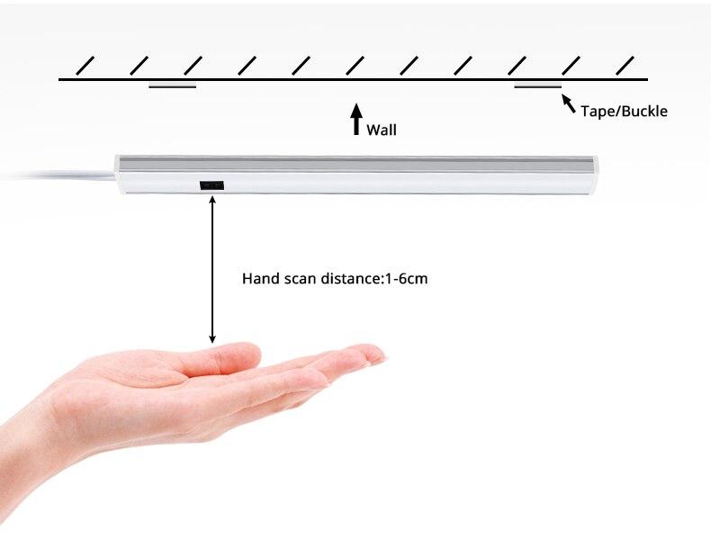 12В силы света Сид датчика движения рукой сканирование развертки переключатель света шкафа 30СМ 40см 50см ночника гардероб кухня домашнего освещения